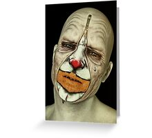 Behind The Mask - The Tears of a Clown Greeting Card