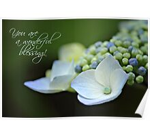 Wonderful Blessing - Card Poster