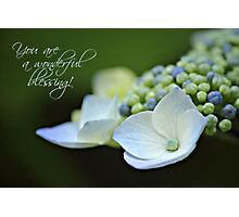 Wonderful Blessing - Card Photographic Print