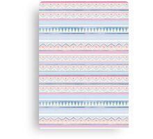 Blue Screen Print Aztec Canvas Print