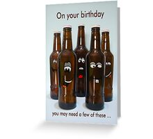 Birthday Beer Humor Greeting Card