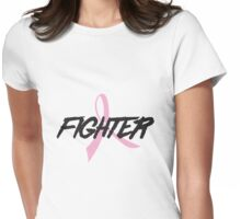 Pink Ribbon Fighter Womens Fitted T-Shirt