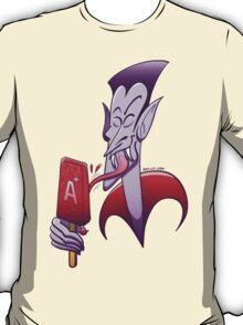 Dracula Licking a Blood Flavored Popsicle T-Shirt