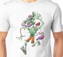 Zombie in Trouble Falling Apart Unisex T-Shirt