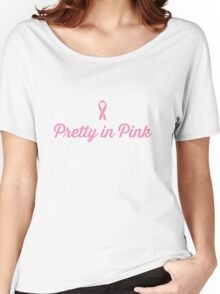 Pretty in Pink - Ribbon Women's Relaxed Fit T-Shirt