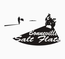 Bonneville Salt Flats Motorcycle Design Baby Tee