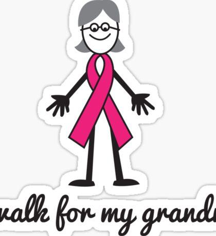 I walk for grandma ribbon person Sticker