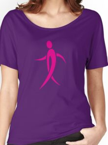 Pink Ribbon Person Women's Relaxed Fit T-Shirt