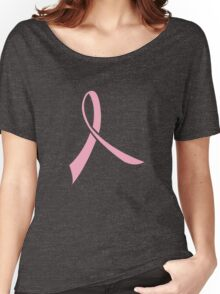 Simple Pink Ribbon Women's Relaxed Fit T-Shirt
