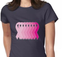 Pink Ribbon Spectrum Womens Fitted T-Shirt