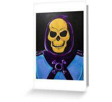 Skeletor Painting Greeting Card