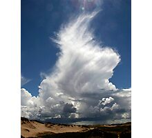 Approaching thunderstorm at beach, Prince Edward Island Photographic Print
