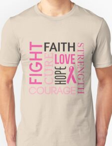 Breast Cancer Words Unisex T-Shirt