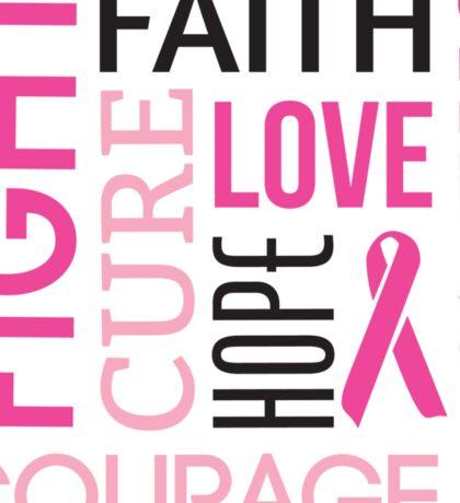 Breast Cancer Words Sticker