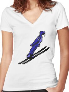 Jump Like A Champ! Women's Fitted V-Neck T-Shirt