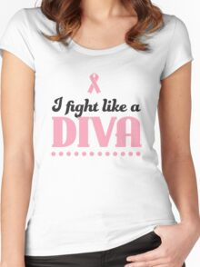 I fight like a diva Women's Fitted Scoop T-Shirt