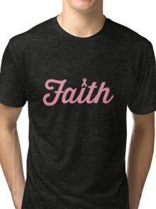 Faith Pink RIbbon Tri-blend T-Shirt