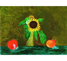 Piet's Sunflower in a Vase Photographic Print