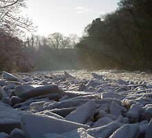 Icy blocks in the River Ayr by AyrshireImages