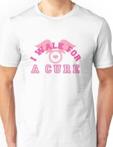 I walk for a cure wings Unisex T-Shirt