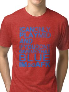 I'm So AFK - Blue Text Tri-blend T-Shirt