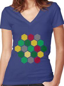 Minimalist Catan Women's Fitted V-Neck T-Shirt
