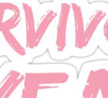 Breast Cancer Survivor 1 Year Sticker