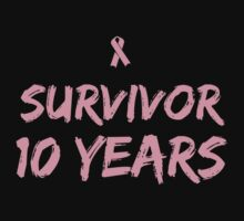 Breast Cancer Survivor 10 Years by causes