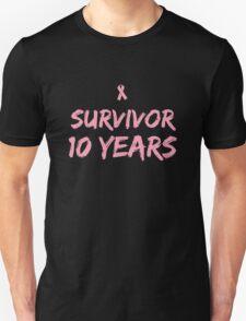 Breast Cancer Survivor 10 Years T-Shirt