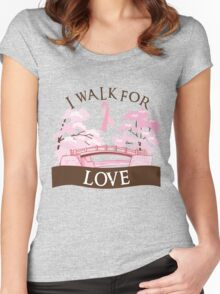 I walk for love Women's Fitted Scoop T-Shirt