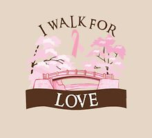 I walk for love Womens Fitted T-Shirt