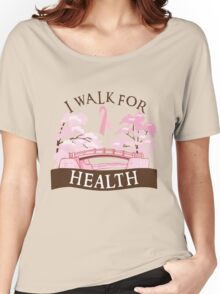 I walk for health Women's Relaxed Fit T-Shirt