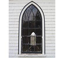 Orwell Corner Church Window, Prince Edward Island Photographic Print