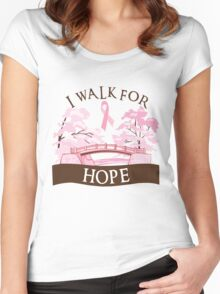 I walk for hope Women's Fitted Scoop T-Shirt