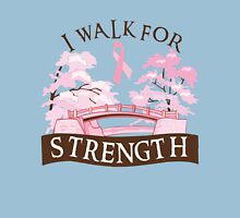 I walk for strength Womens Fitted T-Shirt
