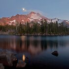Moonrise over Mount Jefferson by Jeff Chen