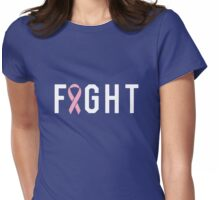 Fight Pink Ribbon Womens Fitted T-Shirt