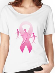 Breast Cancer Ribbon Walkers Women's Relaxed Fit T-Shirt