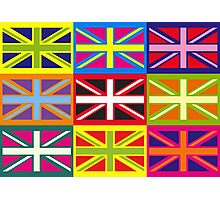 Flag United Kingdom Andy Warhol Pop Art Photographic Print