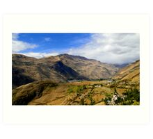 Farming The Summits Of The Andes Art Print