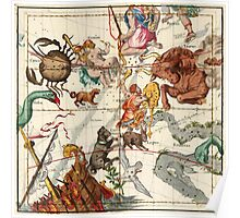 Gemini, Orion, Cancer, Taurus, Canis Major, Canis Minor And Other Constellations Poster