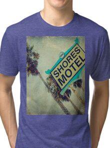 Shores Motel and Palms  Tri-blend T-Shirt