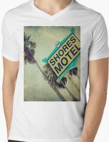 Shores Motel and Palms  Mens V-Neck T-Shirt