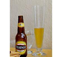 Pilsener Beer Photographic Print