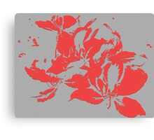 Red textured flowers. Canvas Print