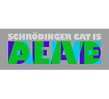 SCHRODINGER CAT IS DEAD AND ALIVE Photographic Print