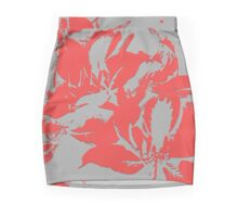 Red textured flowers. Mini Skirt