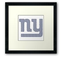 NY text logo Framed Print