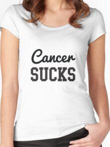 Cancer Sucks Women's Fitted Scoop T-Shirt