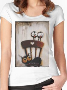My chair with crows Women's Fitted Scoop T-Shirt